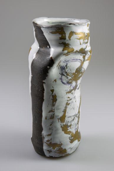 Vase, goldbemalt