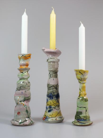 Drei Leuchter